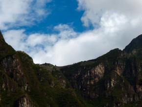 Machu Picchu visto da linha de comboio